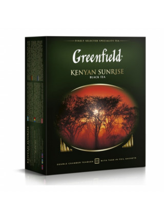 Чай Greenfield Kenyan Sunrise черный, 100 пак/уп